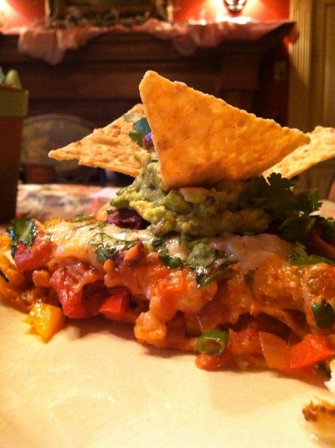 Mexican Lasagna! #food #glutenfree #vegan #healthyfood #avocado #beautybeyondbones #edrecovery