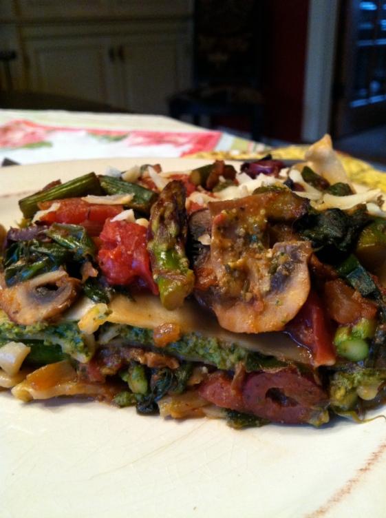 Pesto Lasagna by BeautyBeyondBones #glutenfree #vegan #vegetarian #food #edrecovery