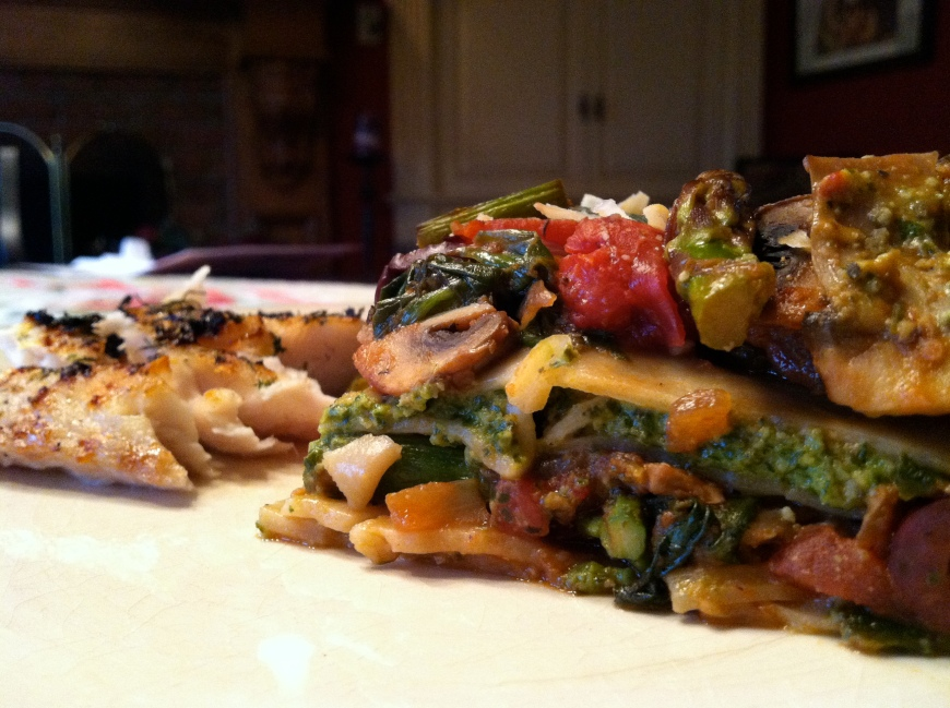 Pesto Lasagna by BeautyBeyondBones #glutenfree #vegan #vegetarian #food #edrecovery