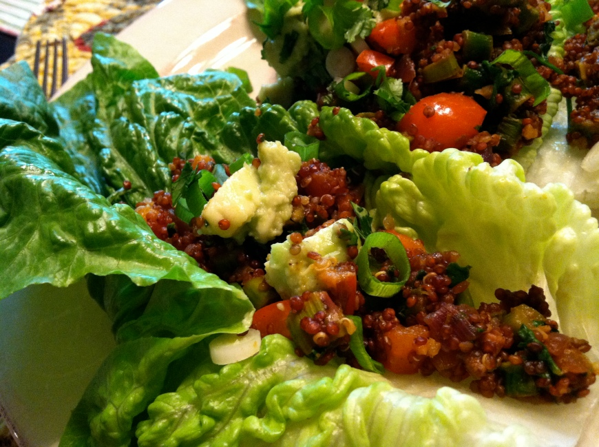 Mexican Quinoa Lettuce Wraps! By BeautyBeyondBones #glutenfree #vegan #paleo #vegetarian #food #edrecovery