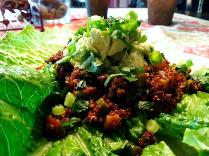 Mexican Quinoa Lettuce Wraps! By BeautyBeyondBones #glutenfree #vegan #paleo #vegetarian #food #edrecovery