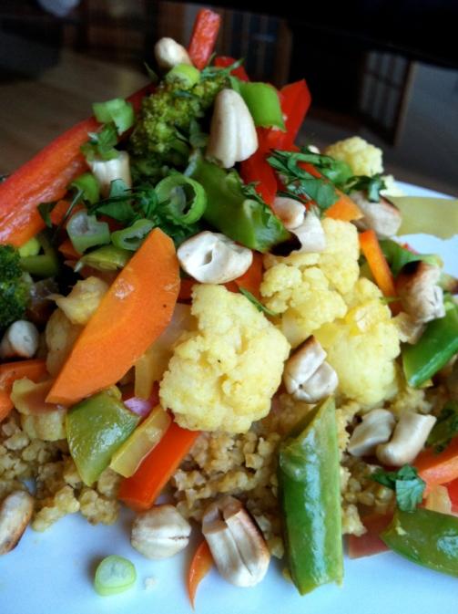 Creamy Cashew Curry over Millet! Recipe by BeautyBeyondBones! Gluten Free, Vegan and Paleo! #glutenfree #healthy #edrecovery #food #vegan #paleo #curry #dinner #vegetarian