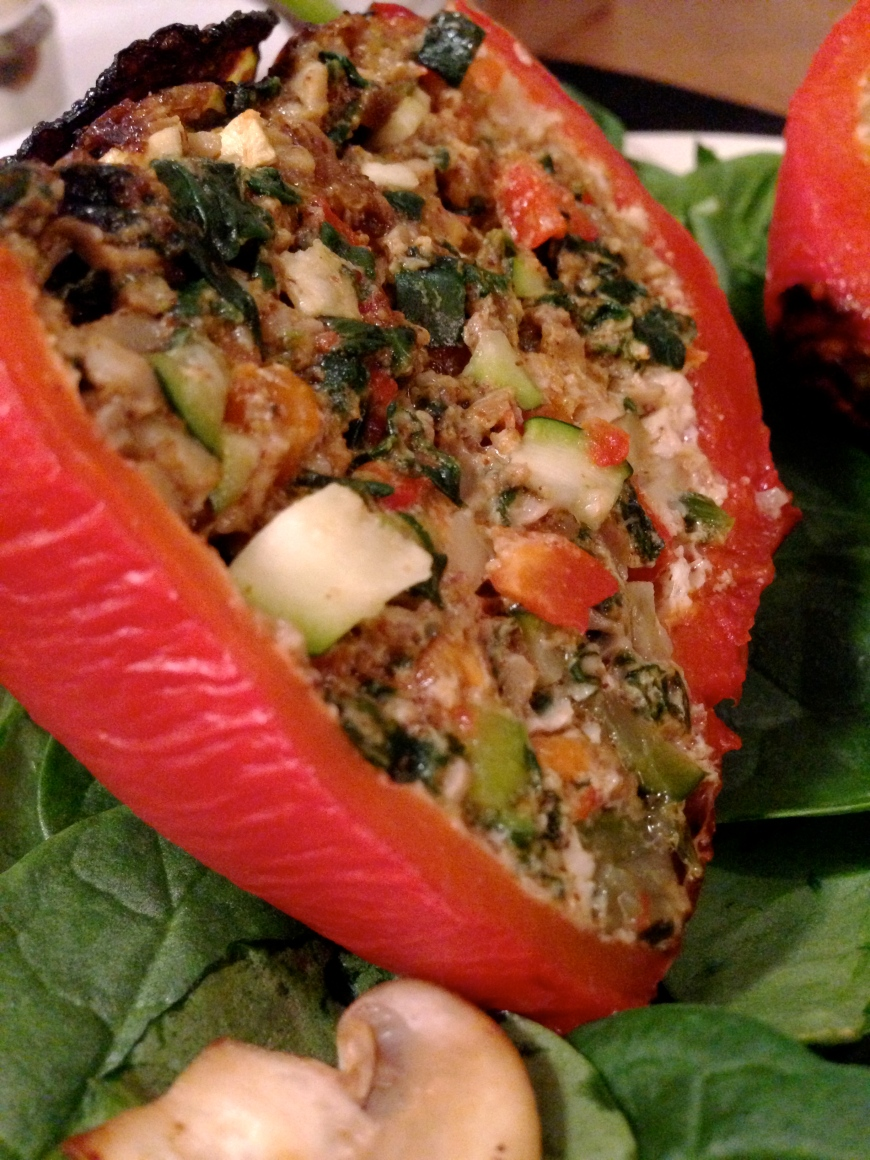 Confetti Stuffed Peppers by BeautyBeyondBones #glutenfree #paleo #specificcarbdiet #edrecovery #food #vegetarian